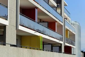 Pyrénées-Orientales (66) Immeubles Dunkan à Perpignan pour F.Fondeville. Logements sociaux et bureaux.